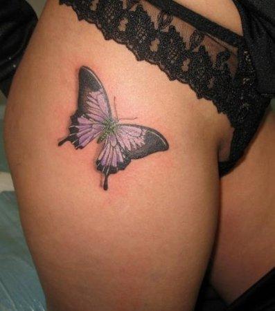Tatuaż Motyl Na Udzie Gallery Tattoo