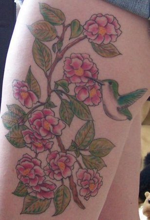 Татуировки с птичкой колибри