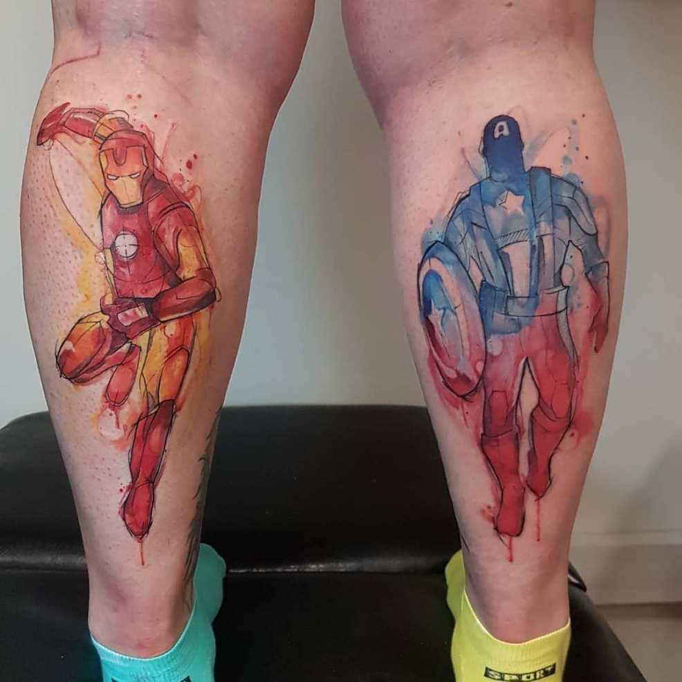50 фото татуировки мстителей для преданных фанатов Marvel 2019
