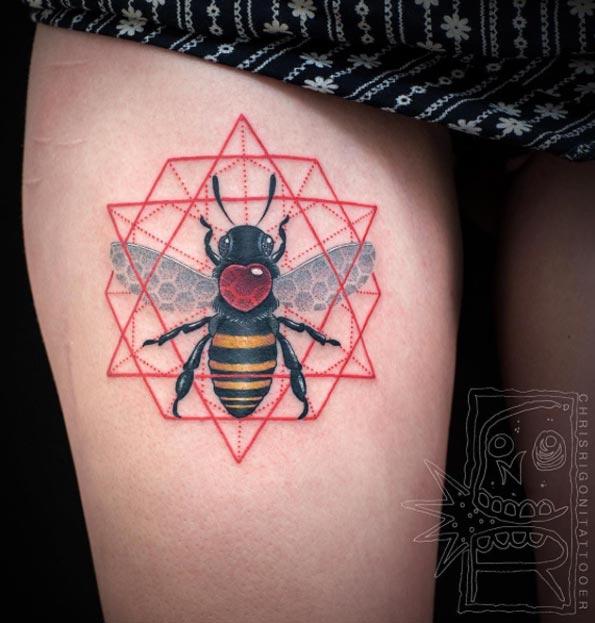 40 BuZZin Bee Tattoo Designs And Ideas TattooBlend