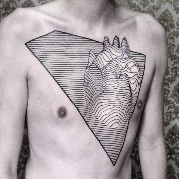 Linework heart design by Chaim Machlev
