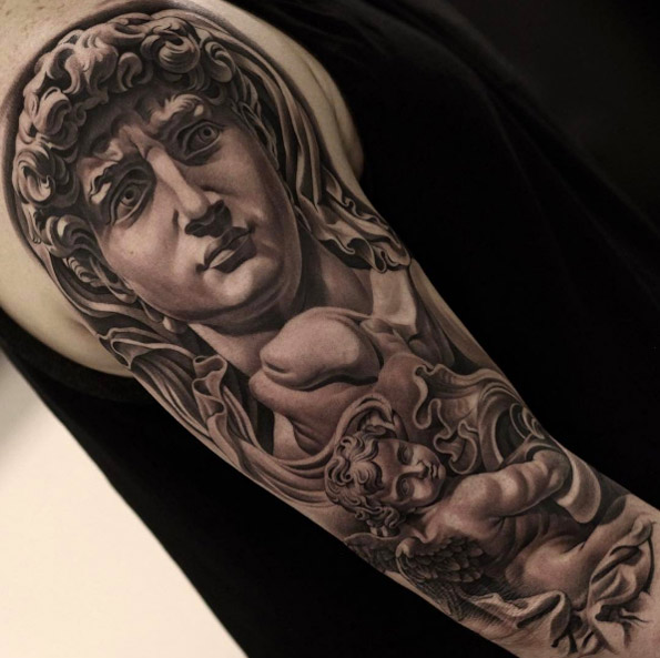 Classical tattoo by Jun Cha