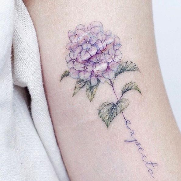 Hydrangea Tattoo Black People