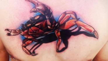 3d Crab Tattoos Ideas 3d crab tattoos ideas