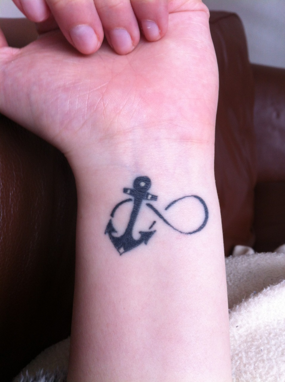 Anchor and infinity tattoo