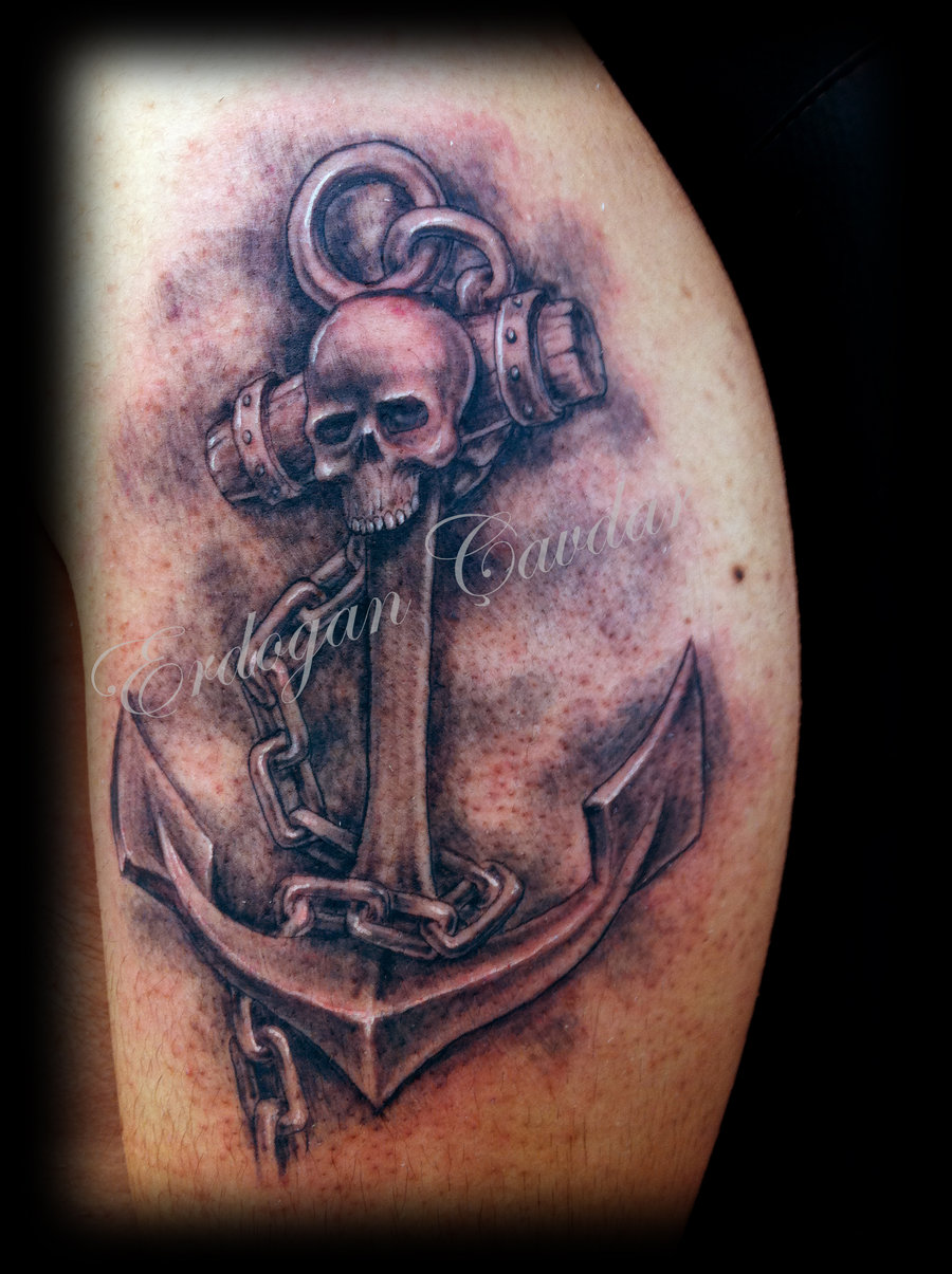 Cool anchor and chain tattoos