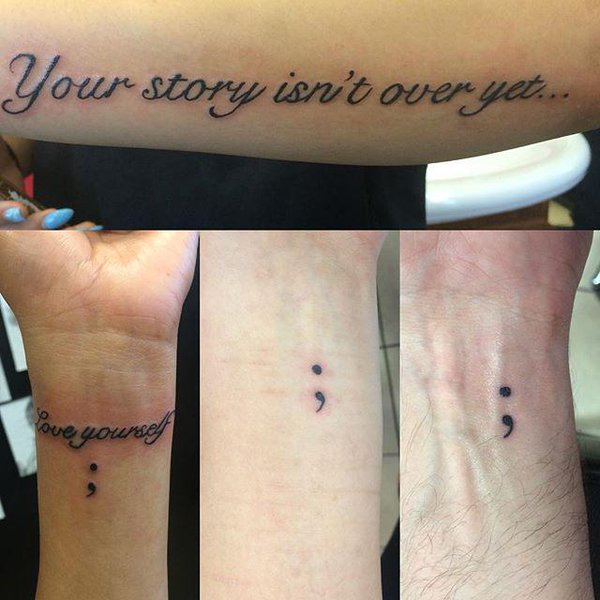 semicolon tattoo 5