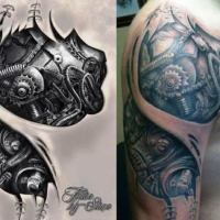 20 Biomechanical Tattoos