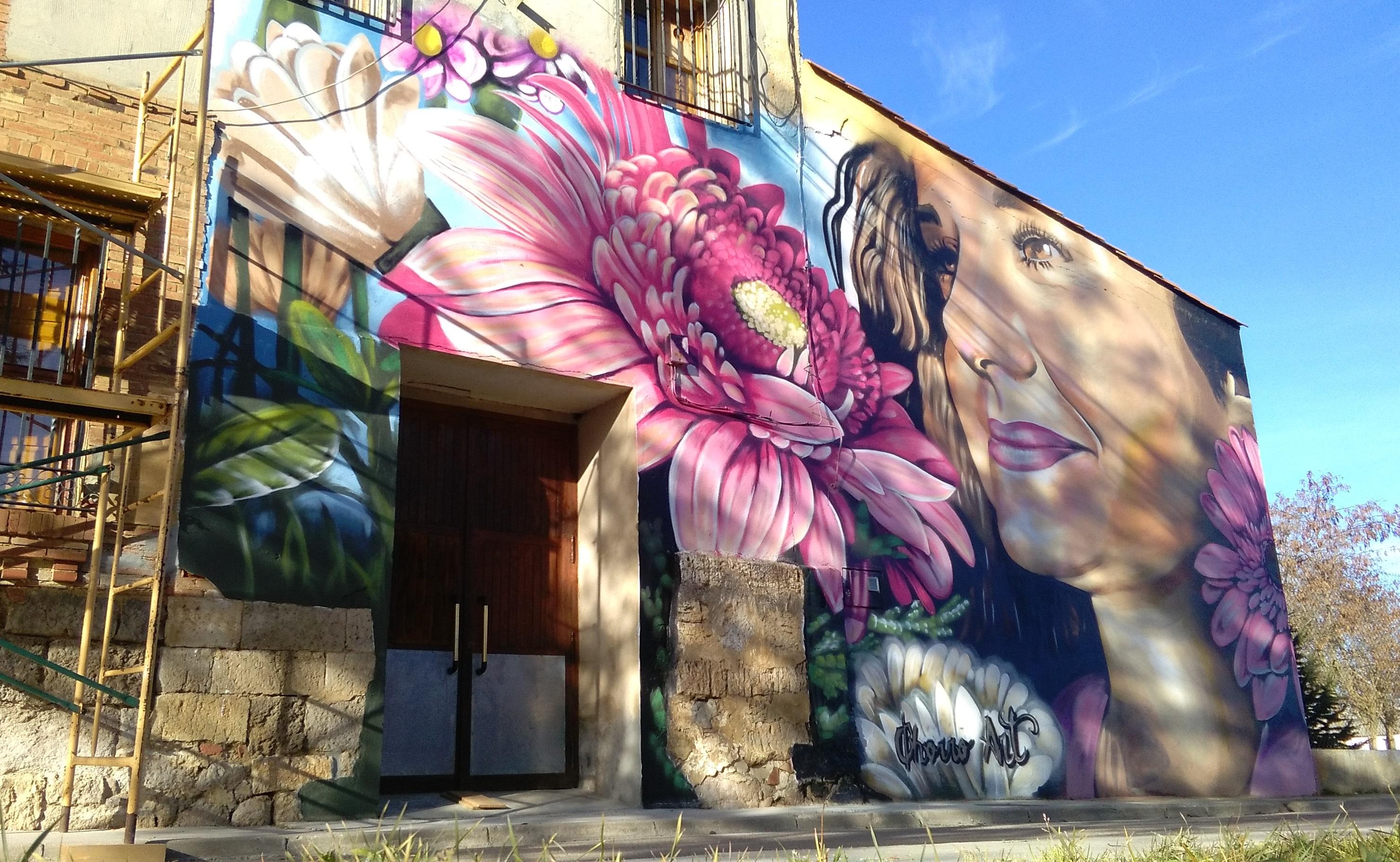 mural graffiti piña palencia chica