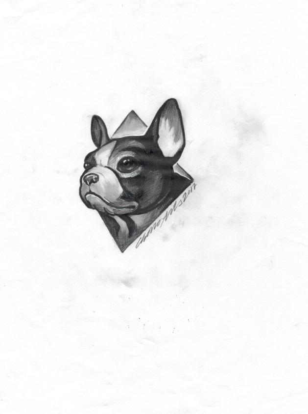 tattoo perro buldog frances palencia