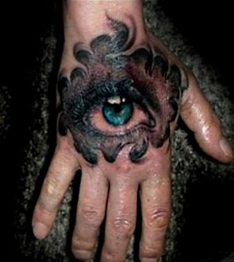 Фото тату на кисти руки парня - всевидящее око