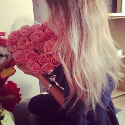 Картинка девушка с цветами без лица – Фото девушек без ...