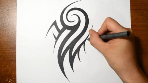 Drawing Tribal Tattoo