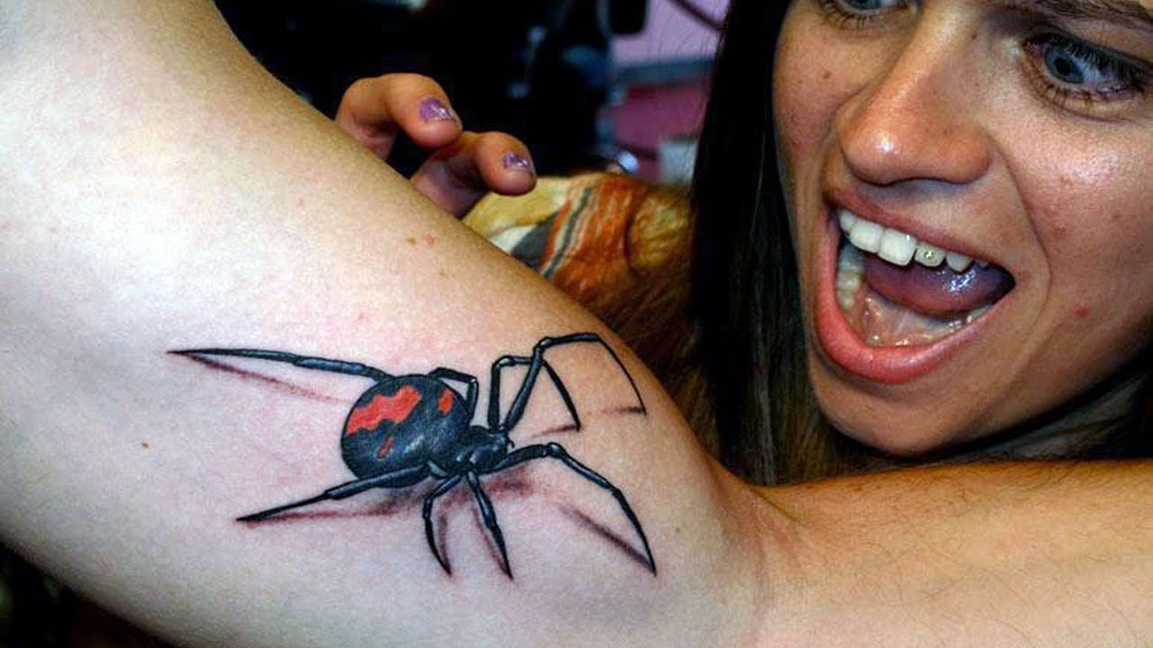 3d tattoo spider