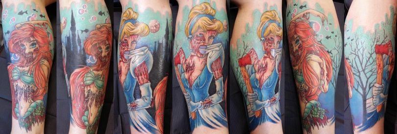 zombie disney tattoos