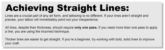 achieving straight lines