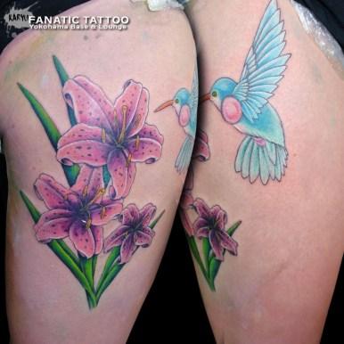 ハミングバード 百合 ハチドリ lily humming bird