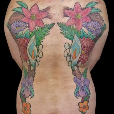 花 翼 背中 女性 flowers wing