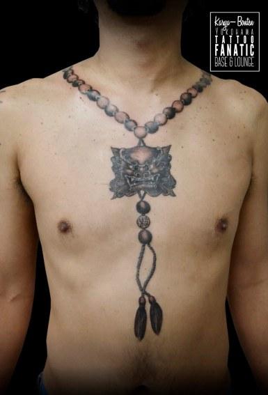 唐獅子 首 数珠 fu-dog foo-dog japanese rosary