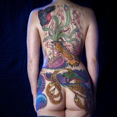 鳳凰 女性 背中 phoenix