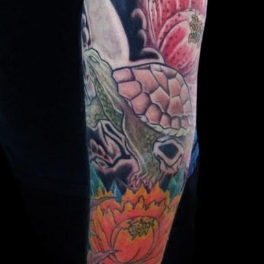 霊亀 牡丹 turtle