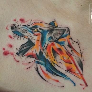 オオカミ 水彩 wolf watercolor