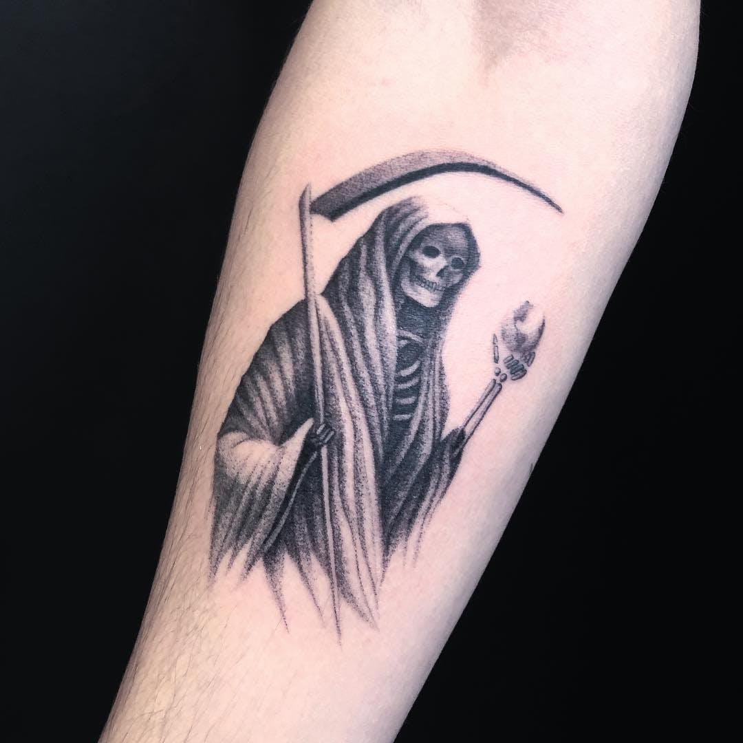 ghost forearm tattoo for men
