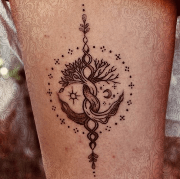 celtic life of tree tattoo