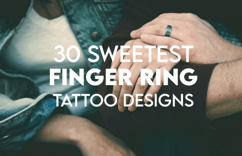 30 Sweetest Finger Ring Tattoo Designs