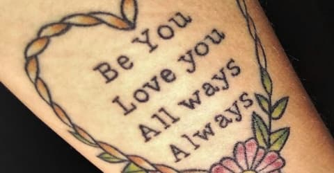 Be you, Love you, All ways, Always