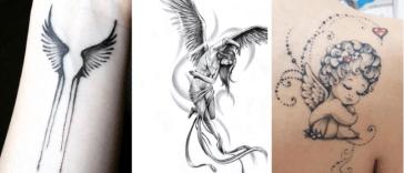 Tatouage petit ange, 20 meilleurs petits motifs Tendance Tattoo 2019 : Magnifique tatouage petit ange pour tout âge