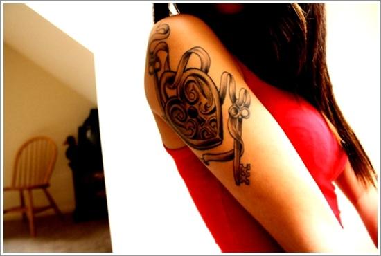 conception de tatouage de serrure (21)