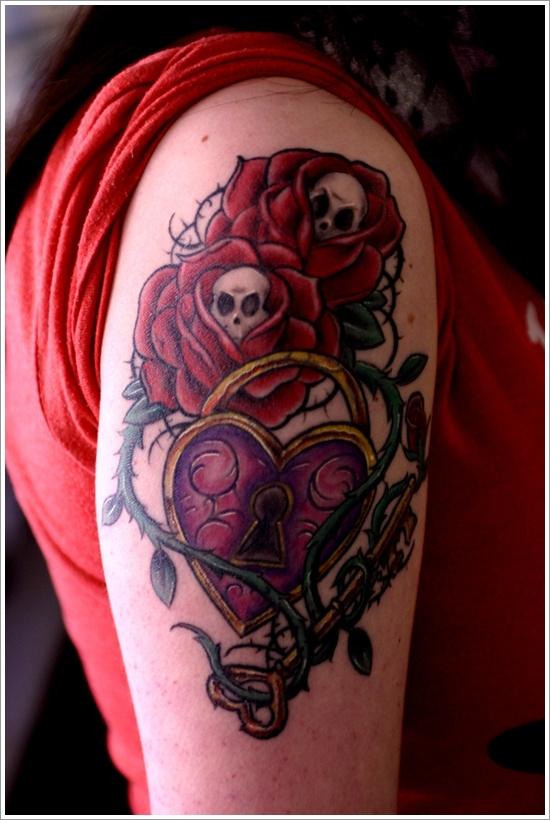 conception de tatouage de verrouillage (3)
