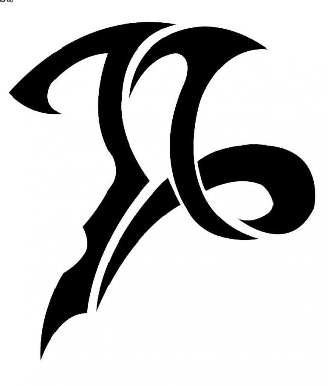 tatouage tribal capricorne