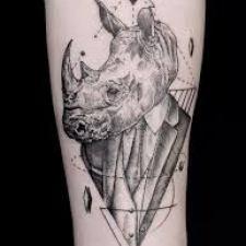Rhino Tattoo Signification 3