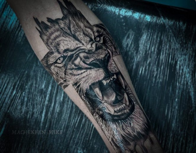 , Tatouage de lion: signification, croquis, styles et 75 photos   (En images)