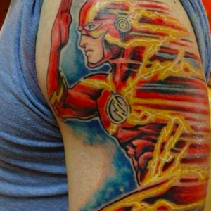 tatouage de super-héros