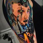 , 75 tatouages de Cyberpunk époustouflants que vous devez voir  (En images)