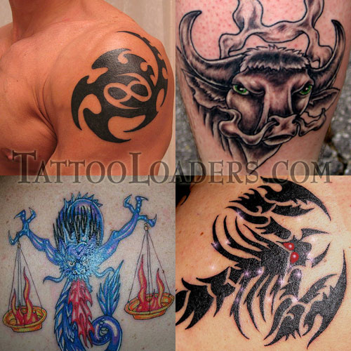A tattoo of zodiac symbols are some of the coolest on the entire web.