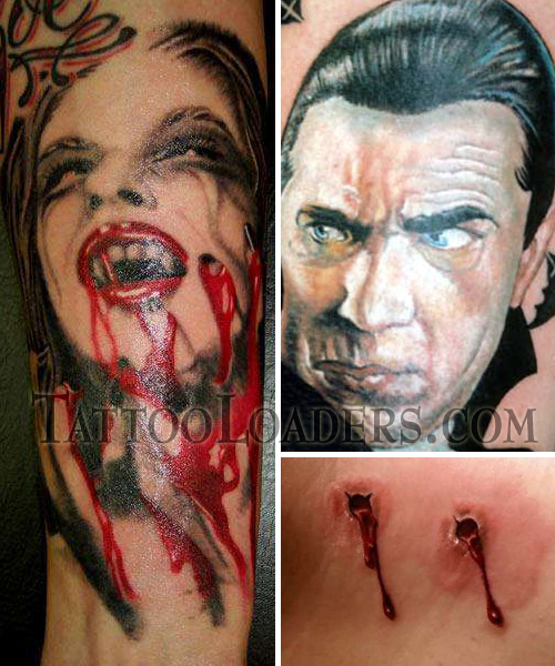 Vampire Tattoos That Rock! Vampire Tattoos