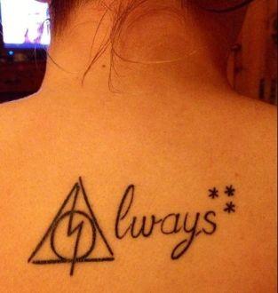 Harry Potter Tattoo Deathly Hallows Always Tattoos Harry Potter