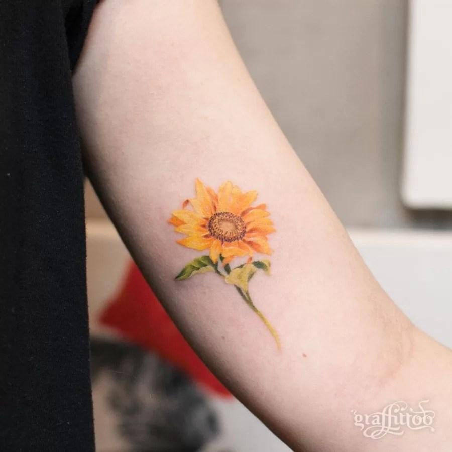 6d86032c0 105 Sensational Watercolor Flower Tattoos Tattoomagz