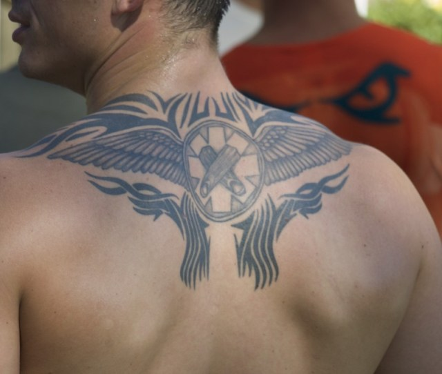 Wing Tattoos For Men Pictures On Upper Back