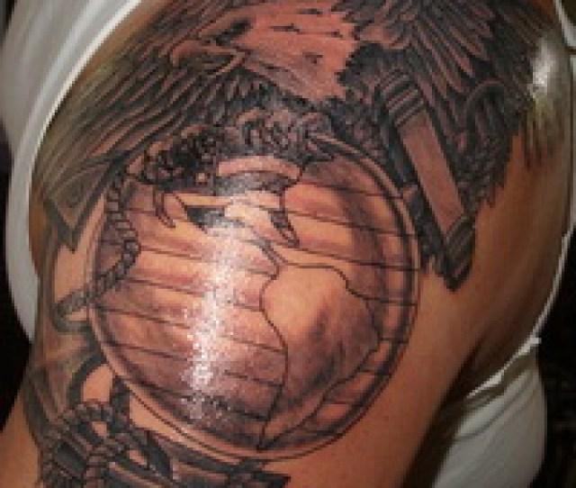 Amazing Tattoo Eagle Globe Anchor Tattoo