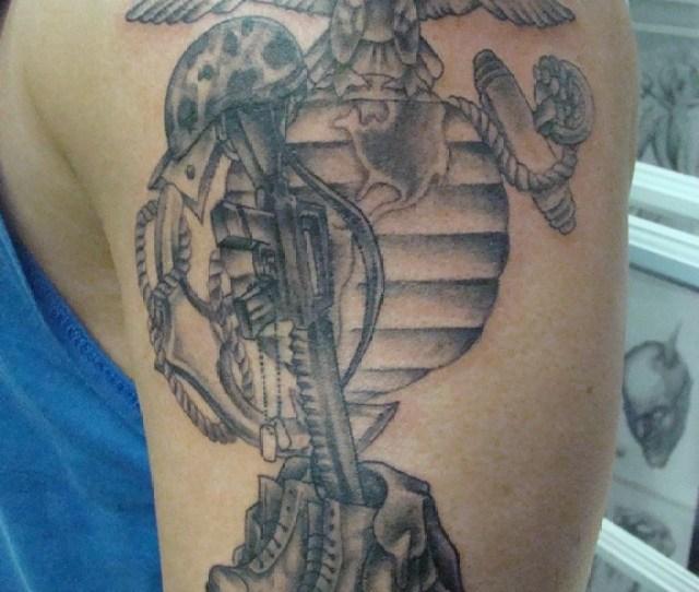 Eagle Globe And Anchor Tattoo Patriotic Tattoo