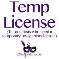 Temporary Body Artist License