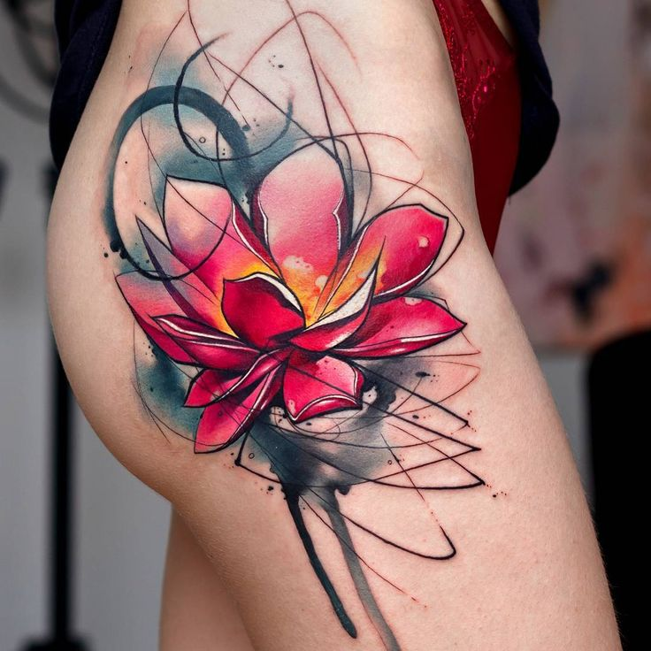 Watercolor Tattoo Abstract Lotus Flower Tattooviral Ideas And Designs