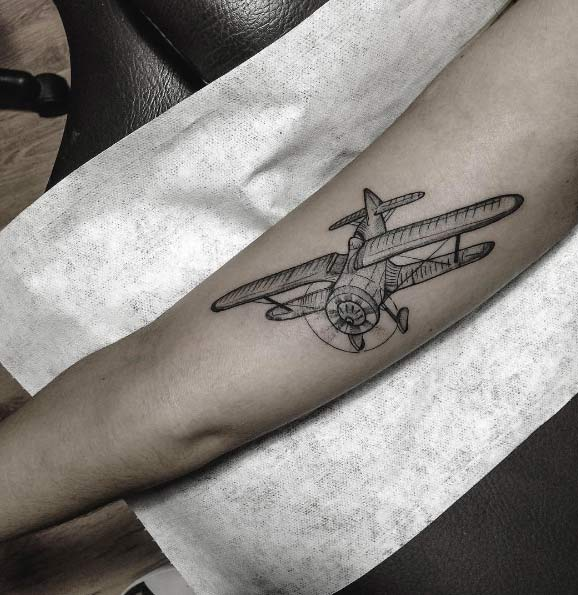 30 Amazing Airplane Tattoos For People Who Love To Travel Ideas And Designs