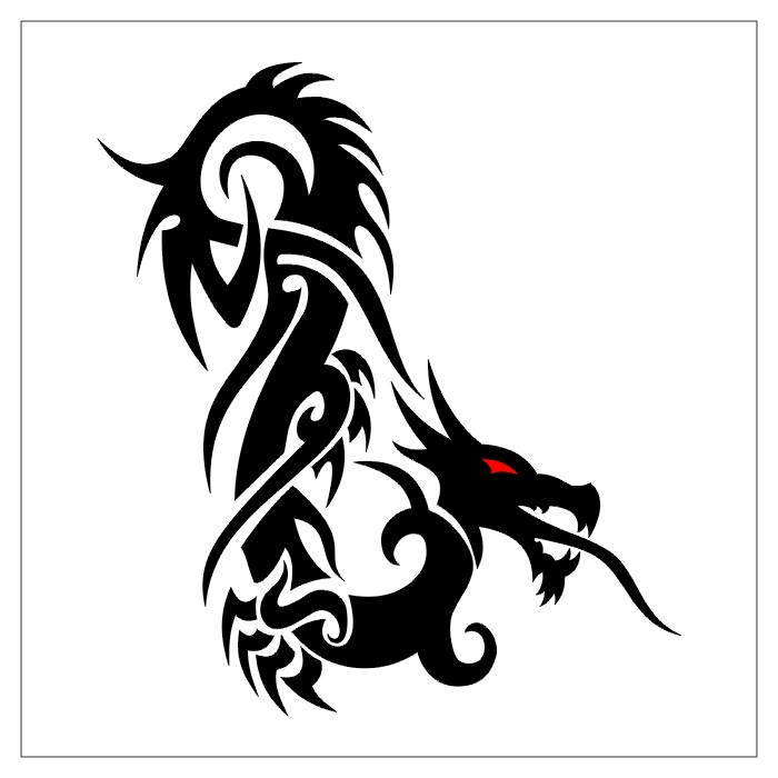 Big Dragon Tribal Tattoo Design Pictures Tattoo Expo Ideas And Designs