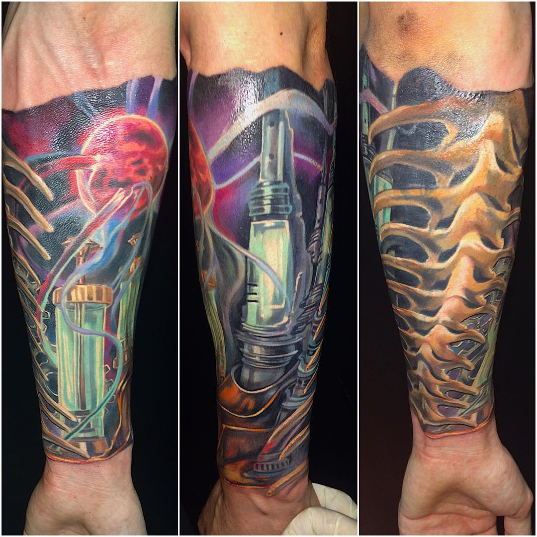 55 Best Photo Patterns Of Biomechanical Tattoos Ideas And Designs